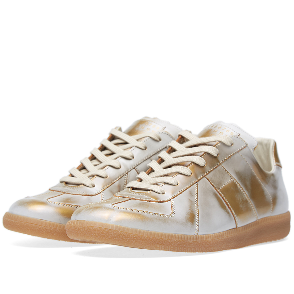 Maison margiela 22 classic replica sneaker white gold for Maison margiela 22