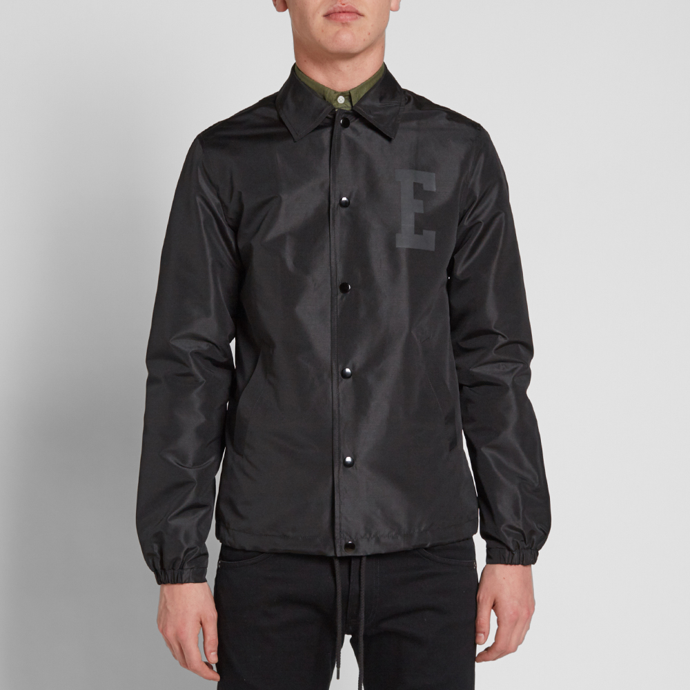 Edwin coach jacket black for Coach jacket