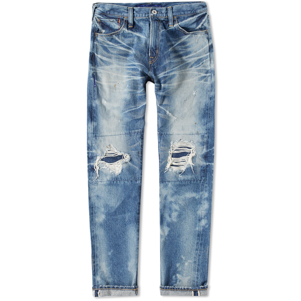 Denim by Vanquish & Fragment Damaged Five Years Tapered Jean