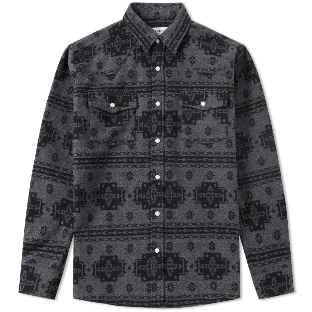 Vanquish Native Pattern Western Flannel Shirt