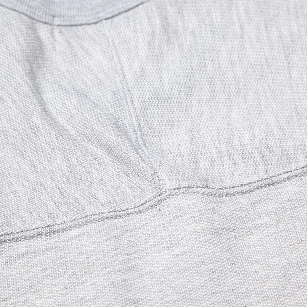 Stone Island Melange Fleece Crew Sweat (Light Grey)