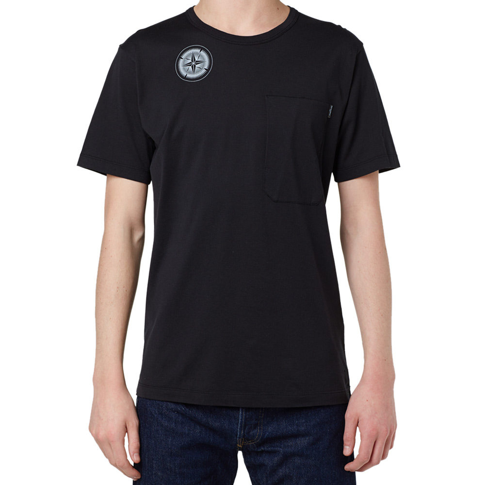 Stone Island Shadow Project Mako Cotton Back Print Tee (Black)