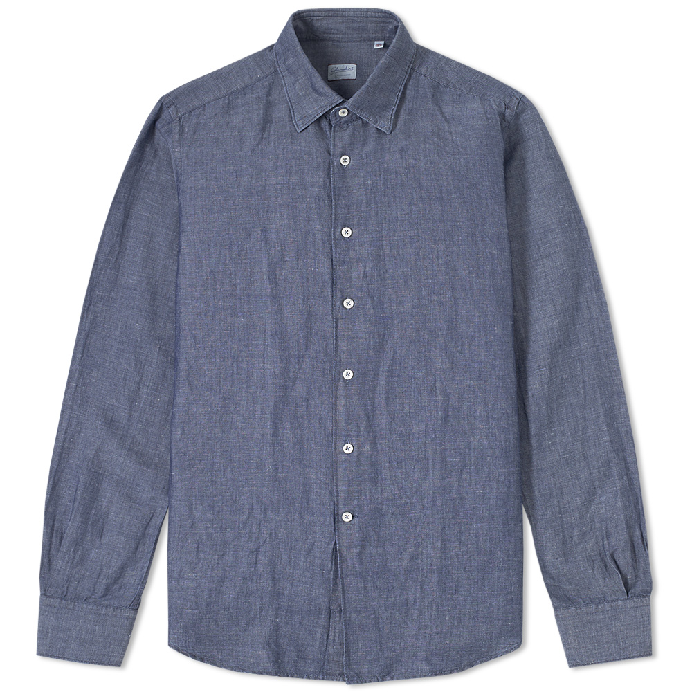 Incotex Kurt Linen Chambray Shirt