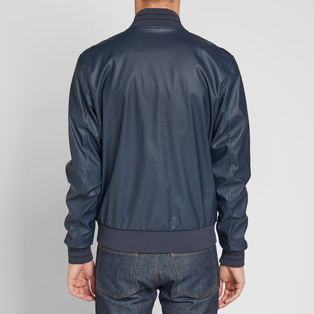 fred perry rain mac bomber jacket navy. Black Bedroom Furniture Sets. Home Design Ideas