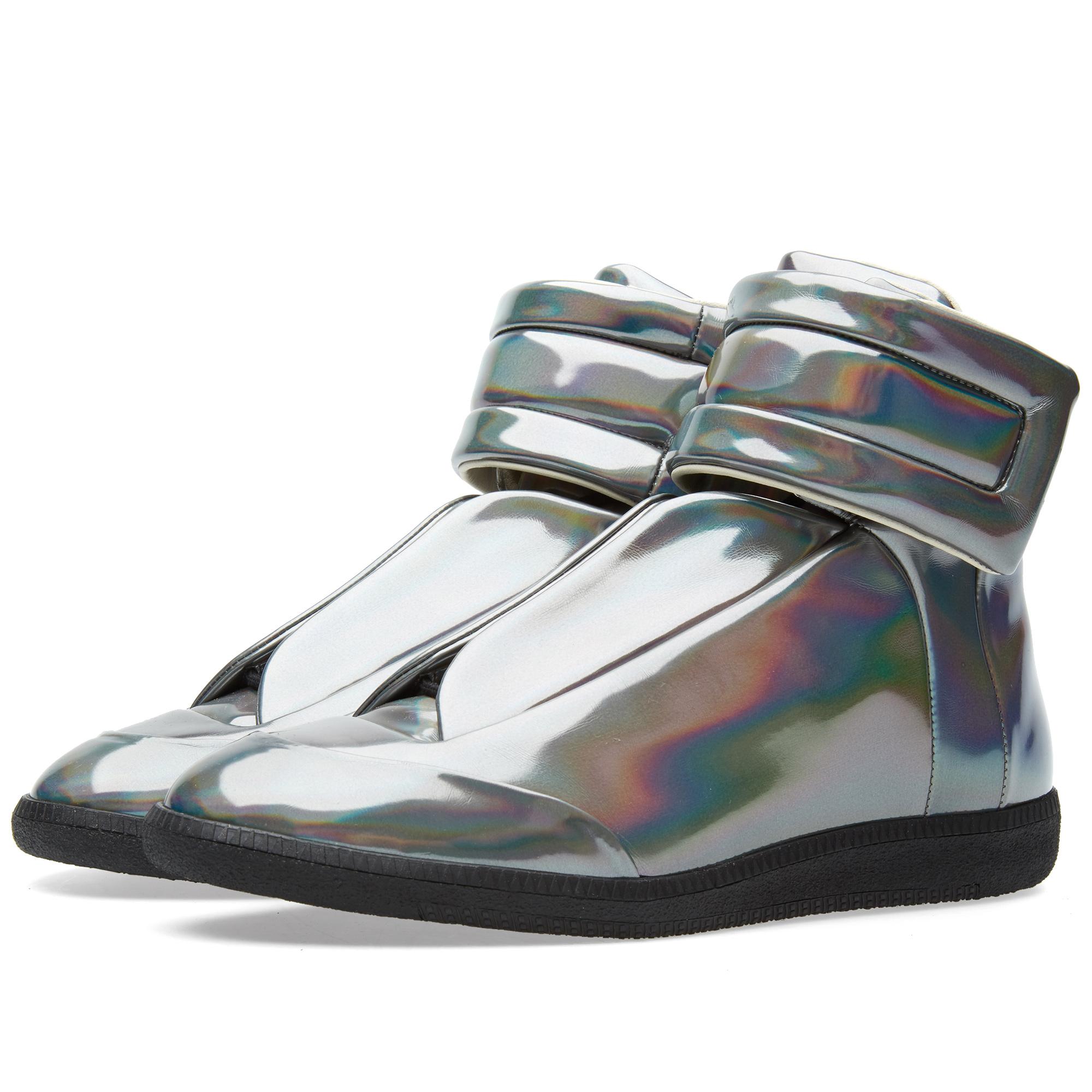 Maison margiela 22 future high hologram sneaker gunmetal for Maison margiela 22
