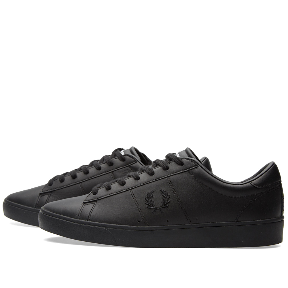 fred perry spencer leather sneaker black. Black Bedroom Furniture Sets. Home Design Ideas