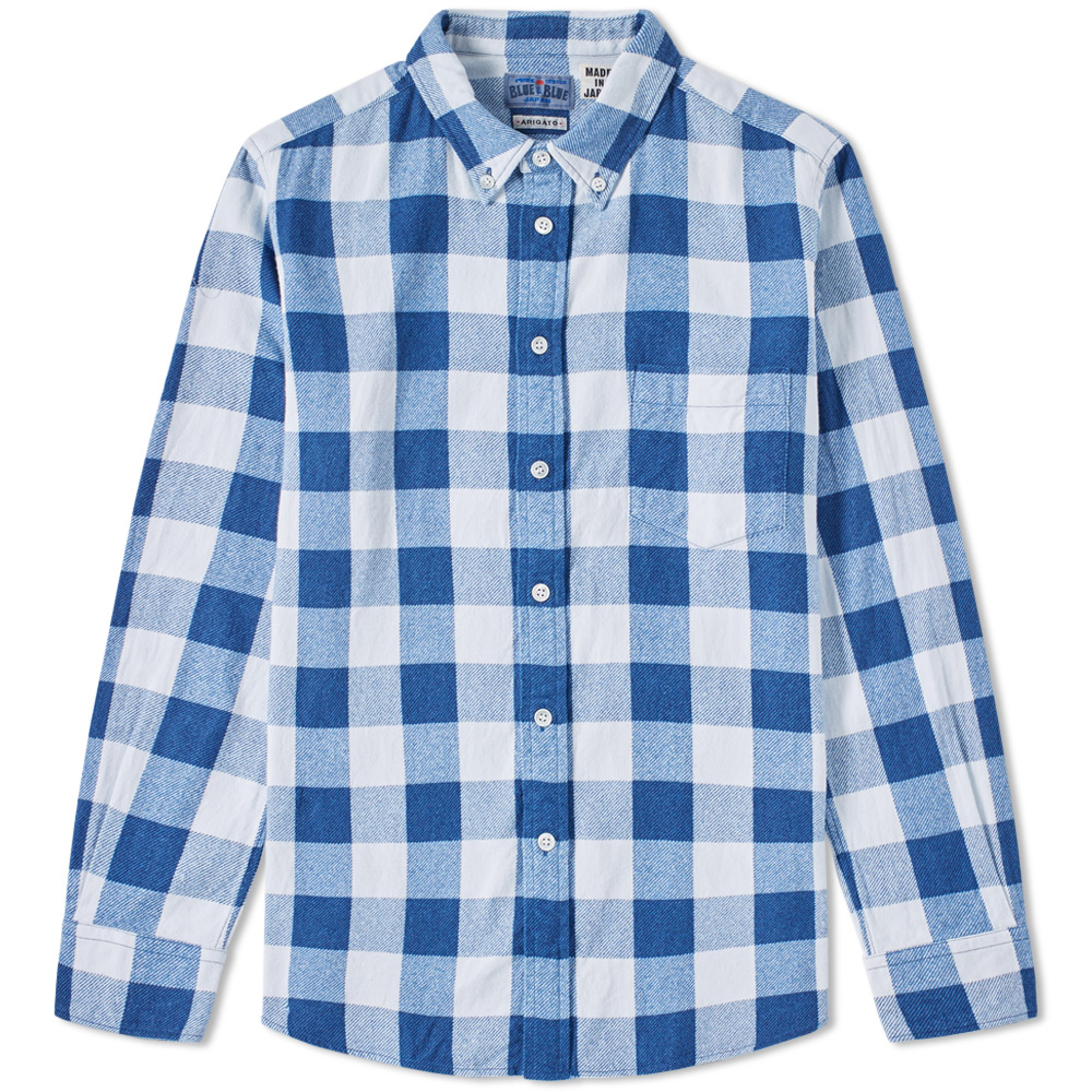 Blue Blue Japan Button Down Traditional Check Shirt
