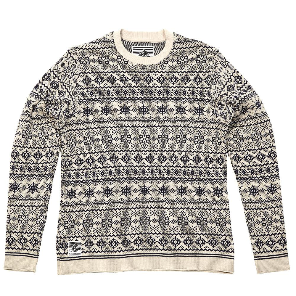 Mt Rainier Design Knitted Nordic Sweater Natural