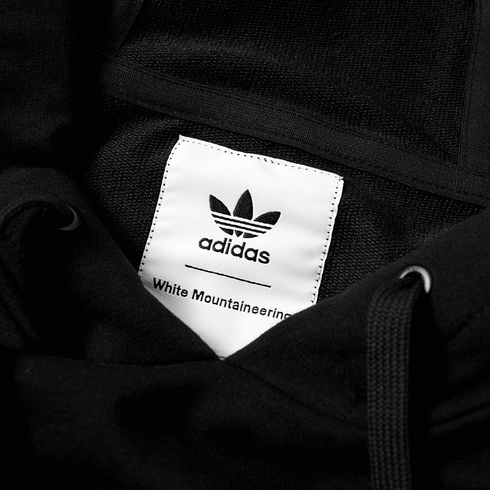 adidas x white mountaineering logo hoody black