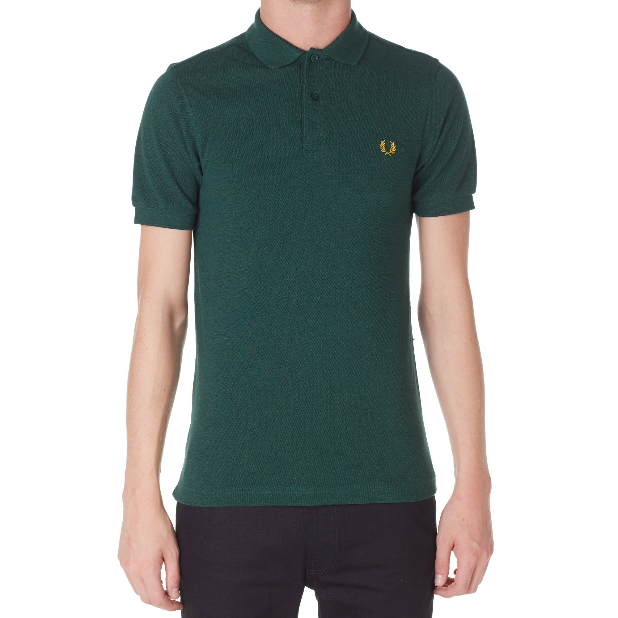 fred perry slim fit plain polo ivy marl. Black Bedroom Furniture Sets. Home Design Ideas