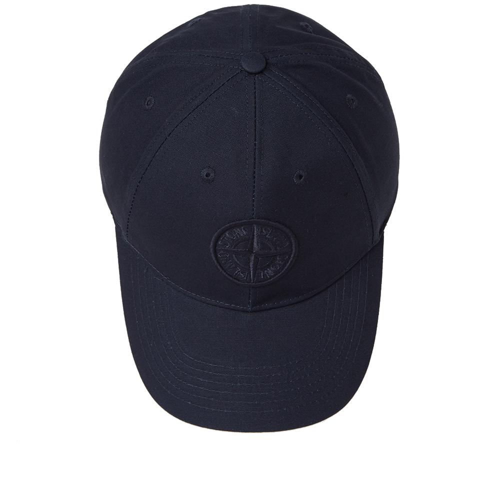 Stone Island Canvas Logo Cap (Navy)