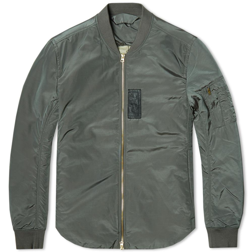 Acne Studios Silas MA-1 Antique Light Bomber Jacket (Grey Green)