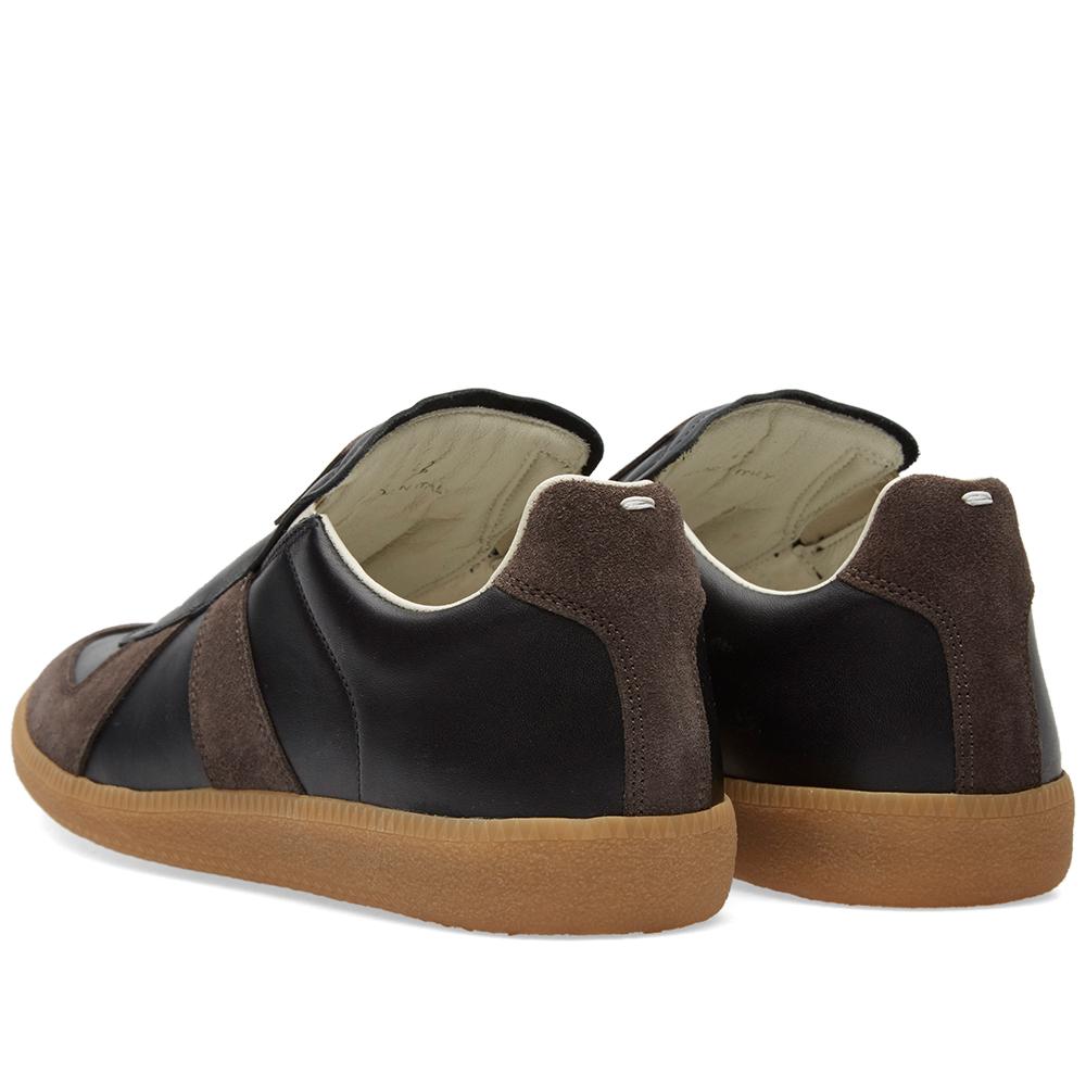 Maison margiela 22 slip on replica low sneaker black for Maison margiela 22