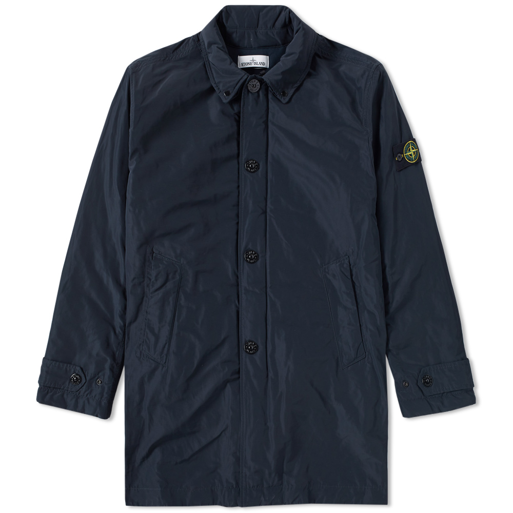 stone island micro reps insulated trench coat navy. Black Bedroom Furniture Sets. Home Design Ideas