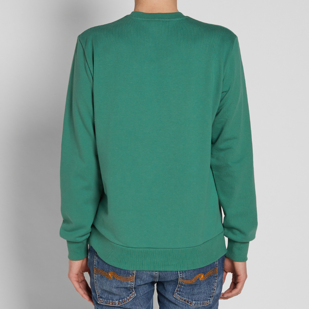 Carhartt embroidered script sweat green white