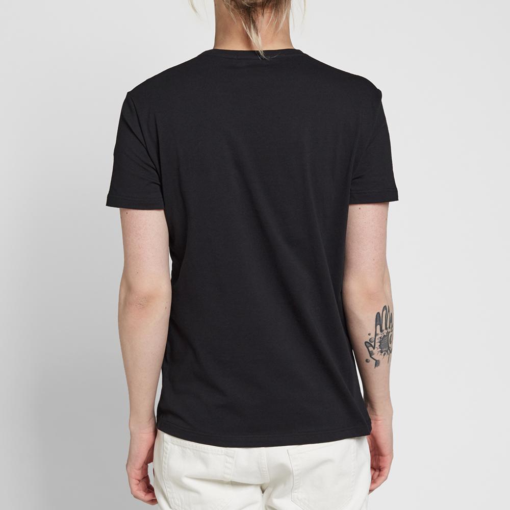 Alexander mcqueen embroidered rose tee black