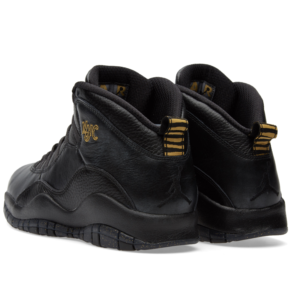 nike air jordan 10 retro black dark grey gold. Black Bedroom Furniture Sets. Home Design Ideas