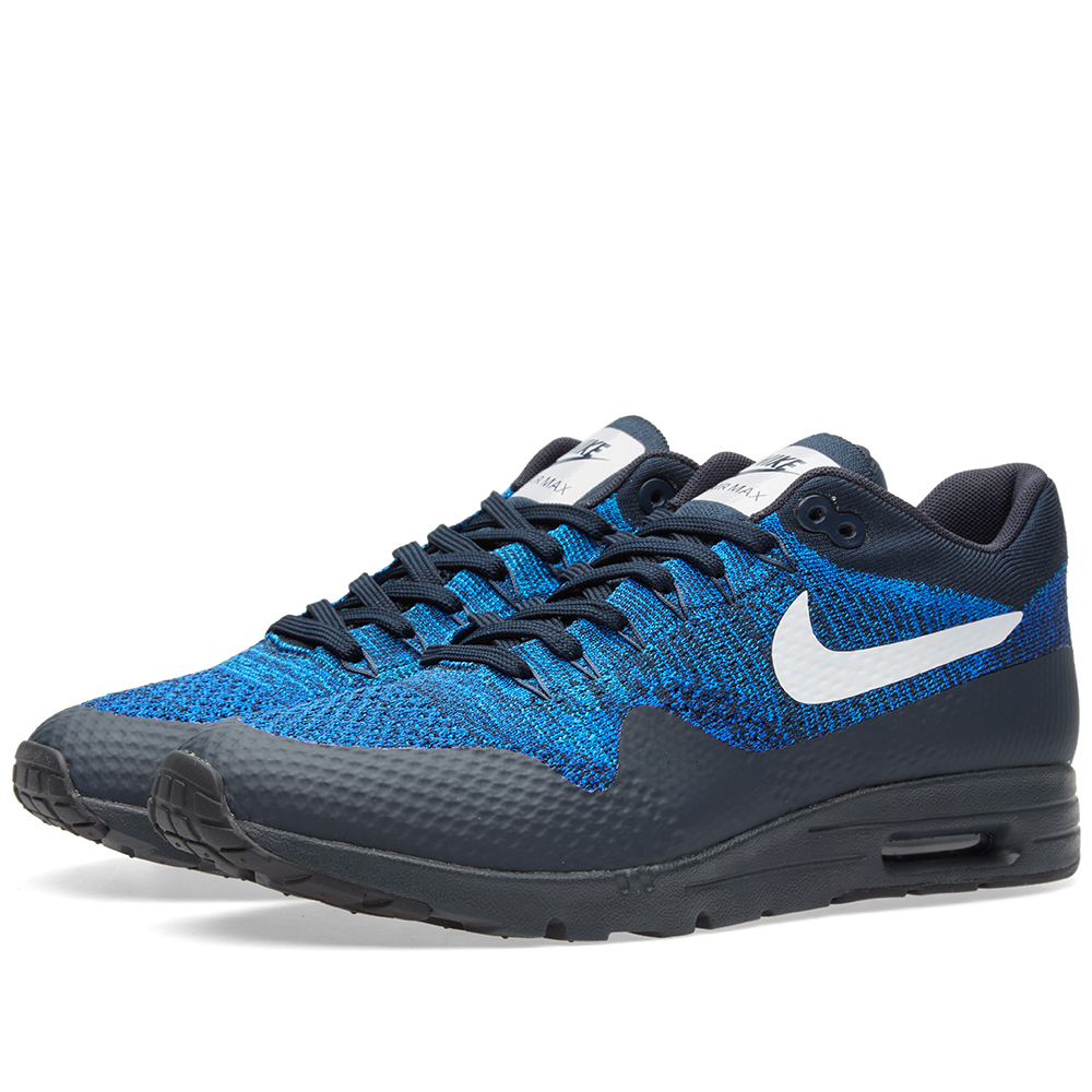 nike w air max 1 ultra flyknit dark obsidian white. Black Bedroom Furniture Sets. Home Design Ideas