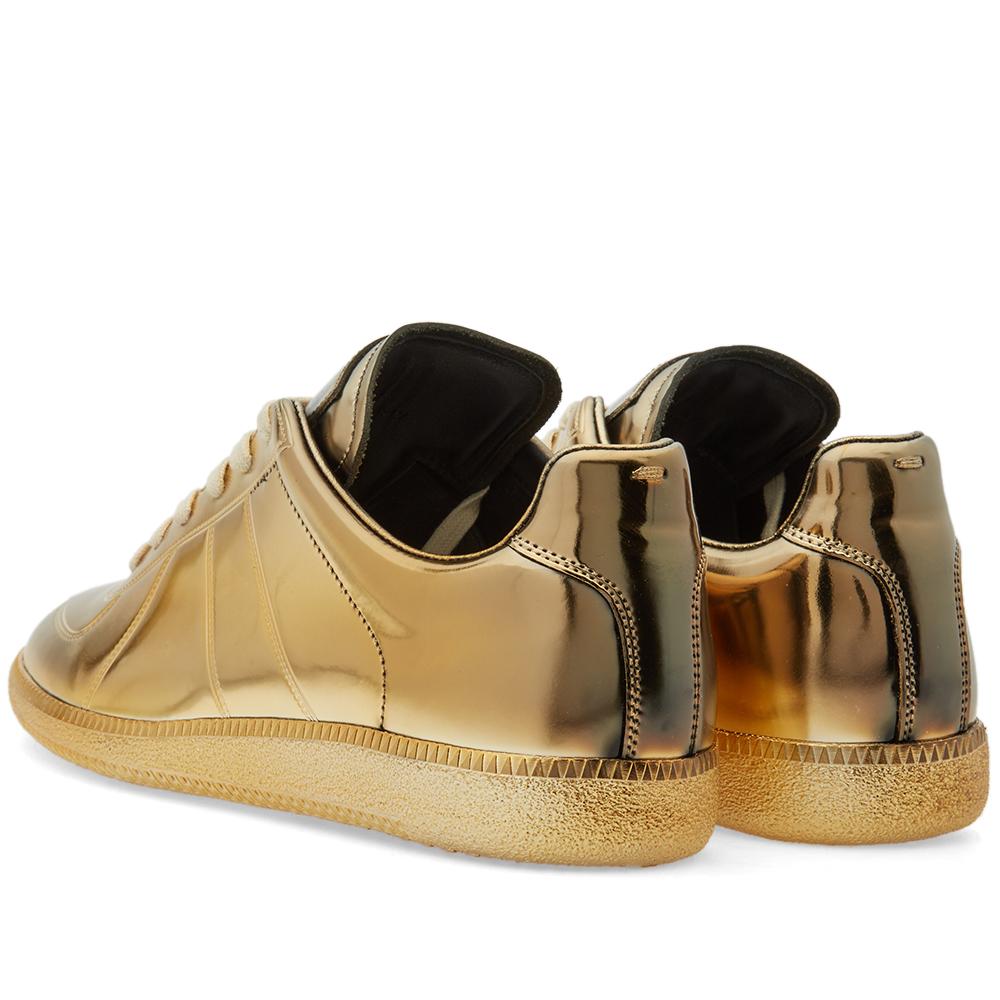 Maison margiela 22 replica low galvanized sneaker brass for Maison margiela 22