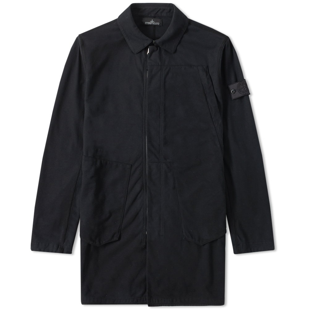 Stone Island Shadow Project Jersey-R Light Trench Coat (Black)