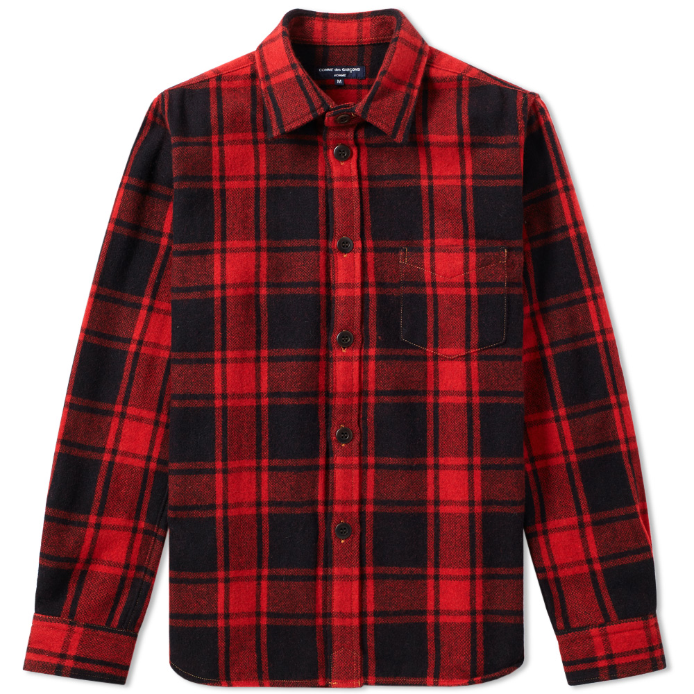 Comme des Garcons Homme Wool Check Overshirt