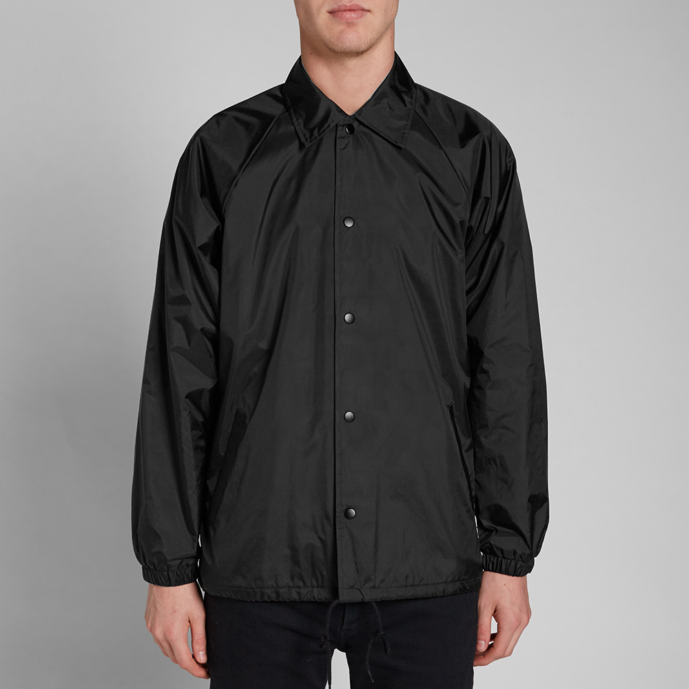 Mki plain coach jacket black for Coach jacket
