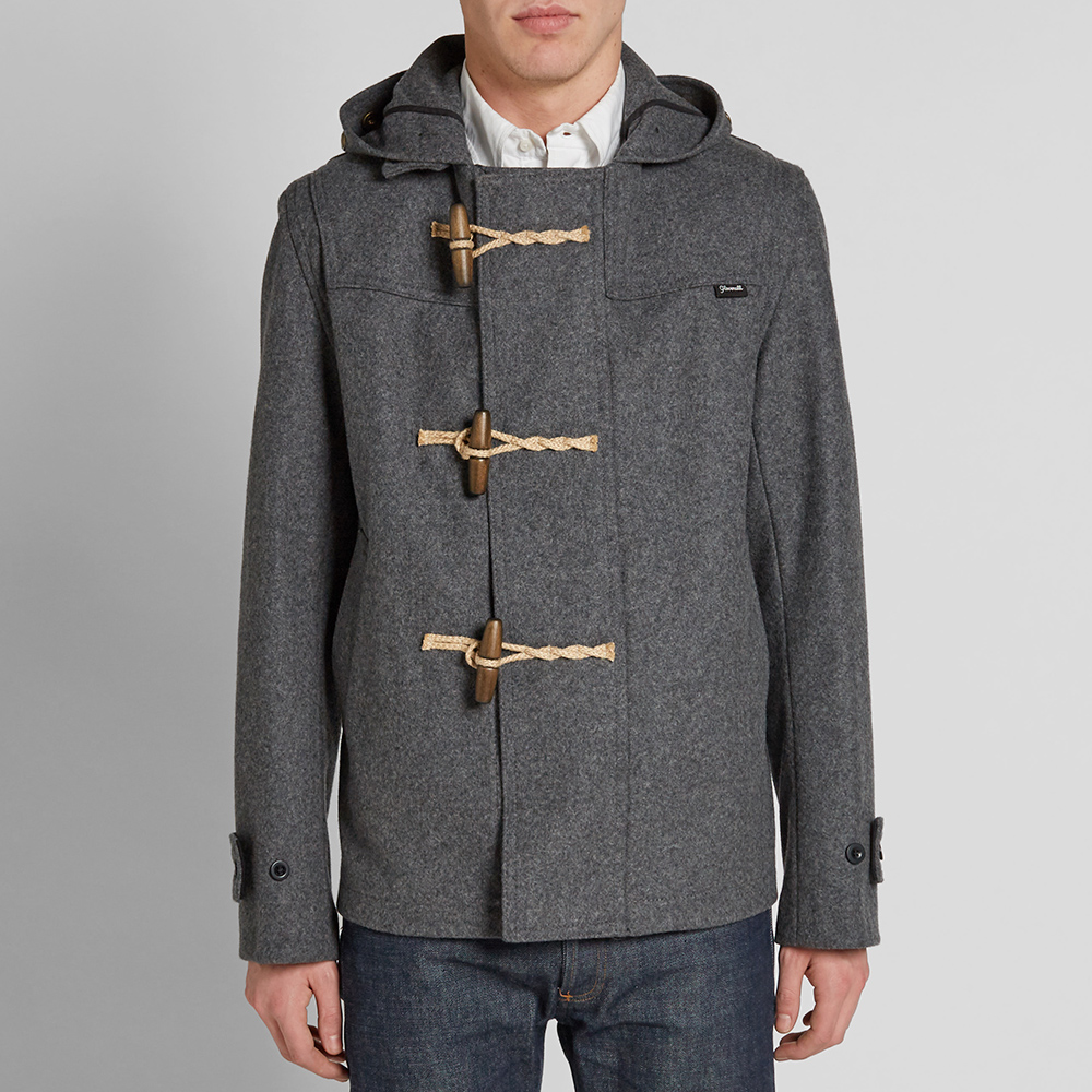 Gloverall Short Monty Duffle Coat (Grey)