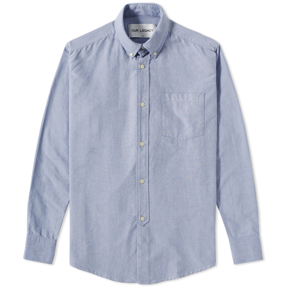 Our Legacy Everyman 1940s Button Down Shirt (Blue Oxford)