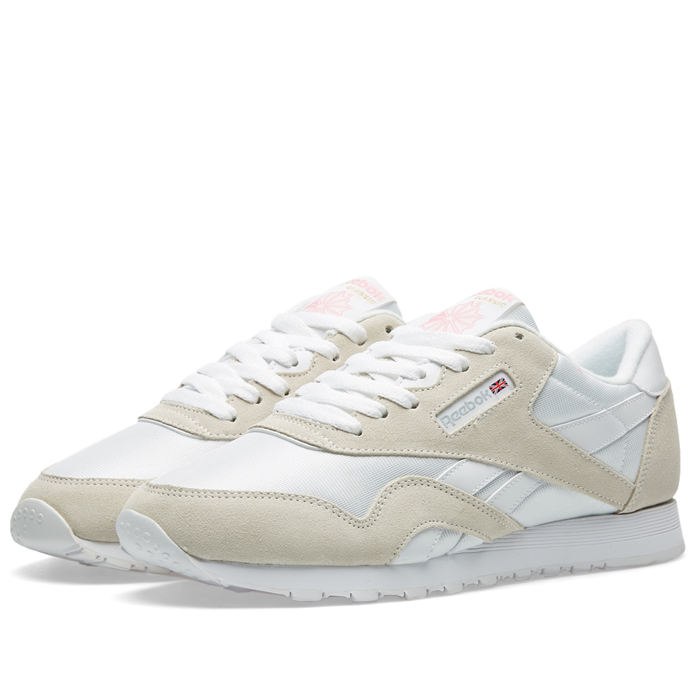reebok classic nylon og white light grey. Black Bedroom Furniture Sets. Home Design Ideas