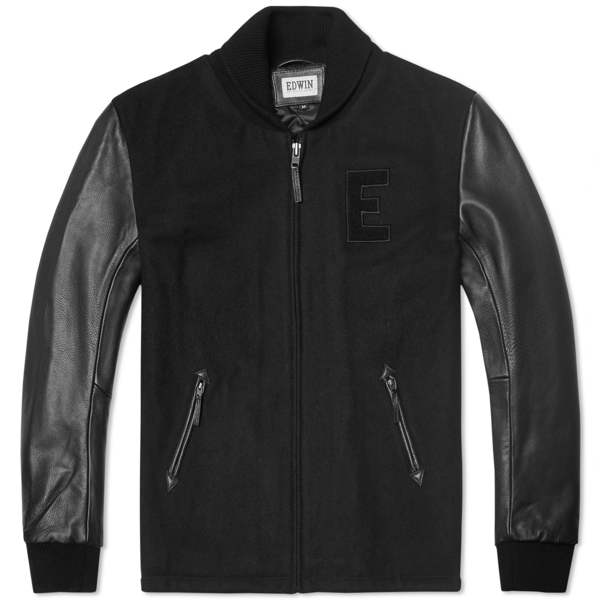 Edwin Baseball Jacket (Black)