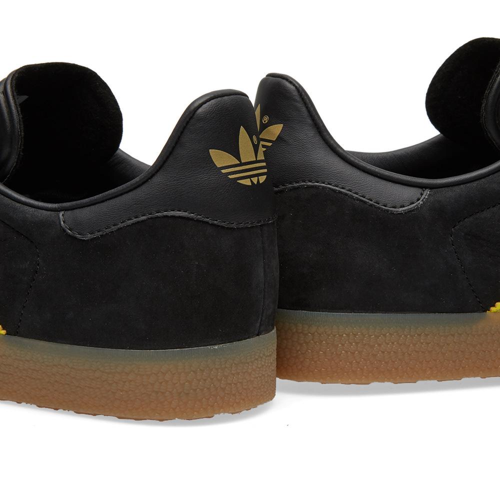 adidas gazelle black suede