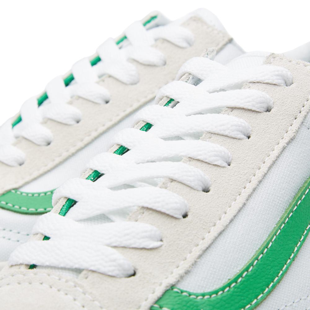 vans old skool sneakers true white kelly green